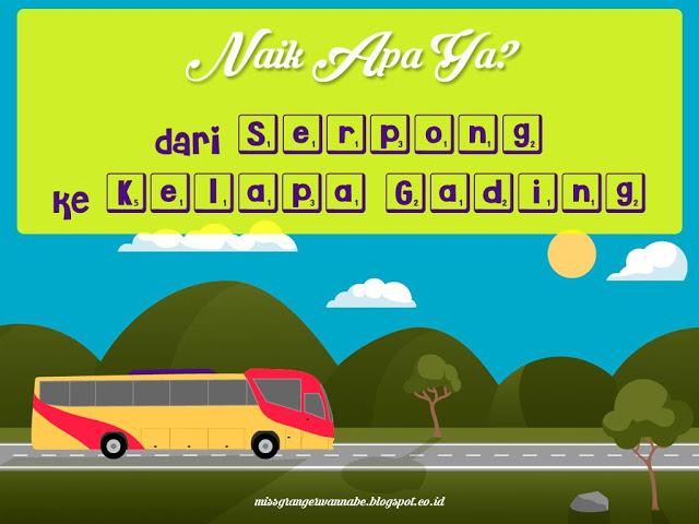 transportasi umum, serpong, kelapa gading, bus