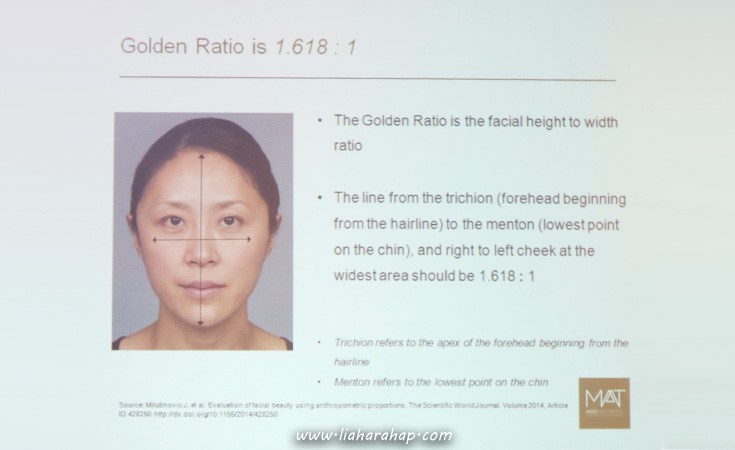 Proporsi Wajah Golden Ratio