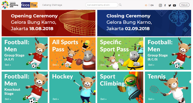 Cara Beli Tiket Asian Games 2018