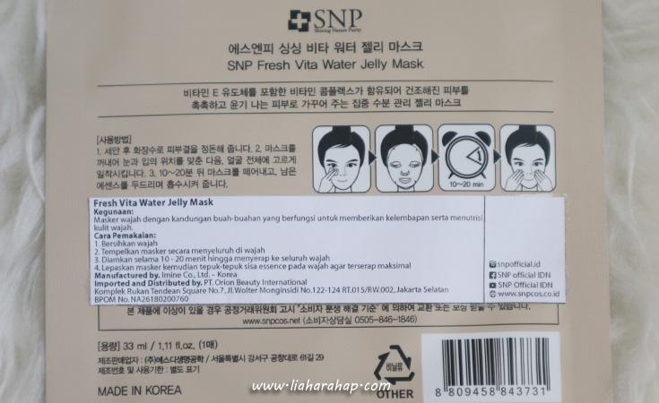 snp fresh vita water jelly mask