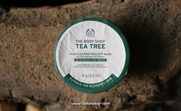 the body shop tea tree peel off mask