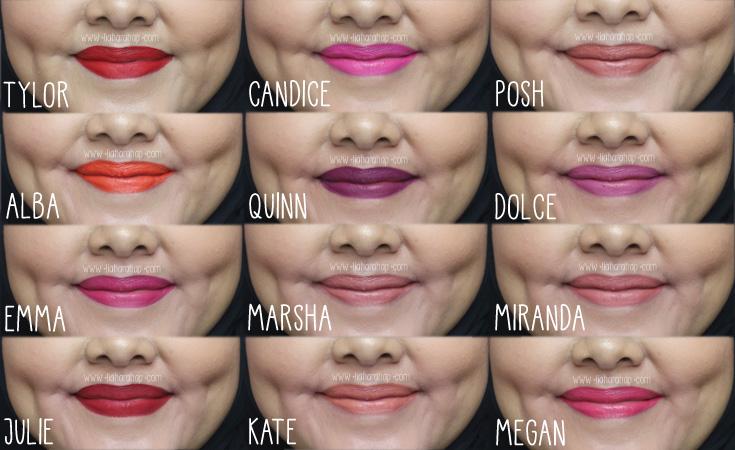 avione liquified longwear lipstick swatches